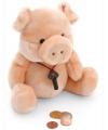 Pluche spaarpot varken