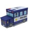 Politieauto opbergbox 55 cm