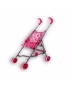 Poppen buggy met roze beertjes