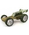 Raceauto donkergroen bamboe speelgoed auto 8 cm