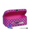 Roze make up opbergkoffer 25 cm