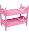 Roze poppen stapelbed 63 cm