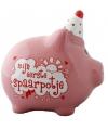 Roze spaarvarken eerste spaarpotje