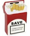 Sigaretten pakje spaarpot