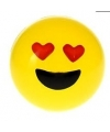 Smiley stuiterbal hartjes ogen 8 cm