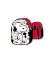 Snoopy rugzak zwart wit rood