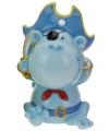 Spaarpot aap piraat blauw 15 cm