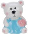 Spaarpot beer met roze hartje