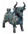 Spaarpot blauwe stier met muzieknoten