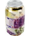 Spaarpot blikje bankbiljetten