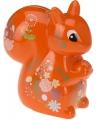 Spaarpot eekhoorn met bloemen