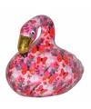 Spaarpot flamingo 17 cm wit roze type 4
