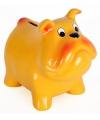 Spaarpot hond geel 15 cm