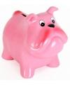 Spaarpot hond roze 15 cm