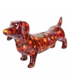 Spaarpot hond teckel 19 cm rood type 2