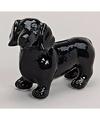 Spaarpot hond teckel zwart 20 cm