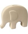 Spaarpot olifant wit klei
