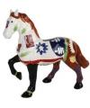 Spaarpot paard wit bruin