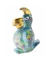 Spaarpot papegaai 22 cm blauw