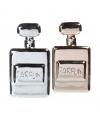 Spaarpot parfumfles zilver