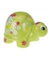 Spaarpot schildpad met bloemen