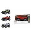 Speelgoed blauwe camouflage jeep wrangler auto 27 5 cm