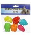 Speelgoed fruit zandvormpjes 6 stuks