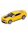 Speelgoed gele chevrolet camaro zl1 auto 1 36
