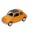 Speelgoed gele fiat 500 classic auto 1 36