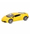 Speelgoed gele lamborghini huracan lp610 4 auto 12 cm
