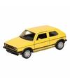 Speelgoed gele volkswagen golf i gti speelauto 12 cm