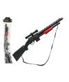 Speelgoed geweer zwart 15 x 77 cm