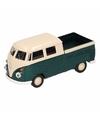 Speelgoed groene volkswagen t1 pick up auto 1 36