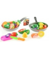 Speelgoed groenten en fruit in pan