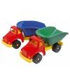 Speelgoed kiepwagen blauw