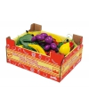 Speelgoed kist met fruit van hout