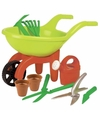 Speelgoed kruiwagen tuinset 9 delig