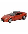 Speelgoed oranje jaguar f type coupe speelauto 12 cm