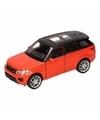 Speelgoed oranje range rover sport auto 1 36