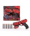 Speelgoed pistool rood zwart 23 cm