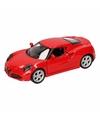Speelgoed rode alfa romeo 4c 2013 auto 16 cm