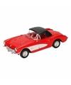 Speelgoed rode chevrolet corvette dichte cabrio 12 cm