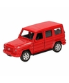 Speelgoed rode mercedes benz g class speelauto 12 cm