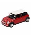 Speelgoed rode mini cooper auto 11 cm