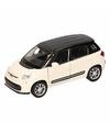 Speelgoed wit zwarte fiat 500 l auto 11 5 cm