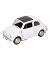 Speelgoed witte fiat 500 classic auto 10 5 cm