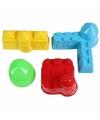 Speelgoed zandvormen gebouwen 4 stuks