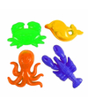 Speelgoed zandvormen oceaan 4 stuks