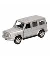 Speelgoed zilveren mercedes benz g class speelauto 12 cm
