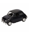 Speelgoed zwarte fiat 500 classic auto 10 5 cm